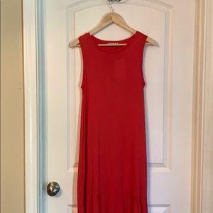 NWT. Zara hi-low maxi dress with pockets